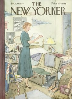 Perry Barlow : Cover art for The New Yorker 1595 - 10 September 1955