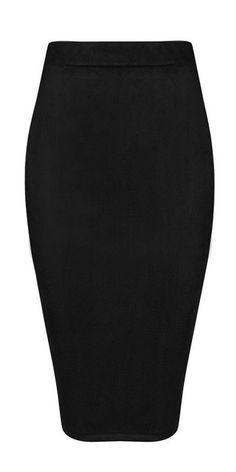 'Oscar' Suede Midi Skirt - Black