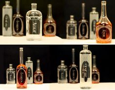The Variance Set of 6 Etched Glass Spirit by ReclamationEtchworks