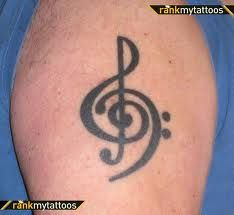 music tattoo. Want this on my wrist