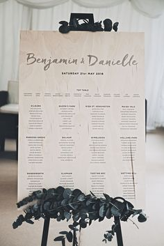 Wedding Stationery & Signage by Old English Company - Off Shoulder Pronovias Wedding Dress For An Elegant Marquee Wedding With An All White Colour Palette Stationery by Old English Company Images by James Corbett