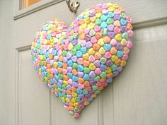 Conversation Heart wreath...easy
