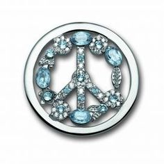 Mi Moneda Ice Blue Peace coin in large #MiMoneda