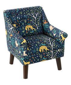 ec96653418e Skyline Furniture Kid s Chair in Folkland Admiral (Folkland Admiral)