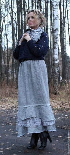 Юбки ручной работы. Длинная юбка бохо