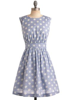 I need a slightly lower neckline, but I love the color with the polka dots.