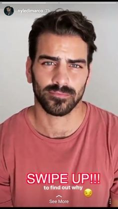 This man is gorgeous Mens Hairstyles With Beard, Cool Hairstyles, Pretty Men, Gorgeous Men, Hairy Men, Bearded Men, Nyle Dimarco Antm, American Top Model, Latin Men