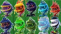 Plants vs Zombies Garden Warfare 2:All 10 Chomper Pvzgw2: Gameplay 2016
