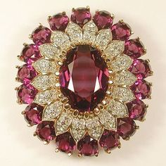d1392e4fd Panetta Gold Pave and Amethyst Massive Oval Starburst Pin or Pendant in  Jewelry & Watches,