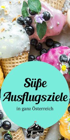 Süße To Dos in ganz Österreich: Besichtige die Herstellung von Eis, Schokolade To Dos, Austria, Pudding, Desserts, Food, Secret Places, Cake Shop, Road Trip Destinations, Hiking