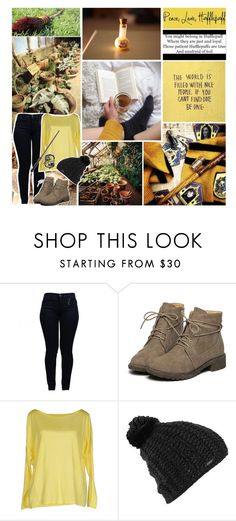 """""""Hufflepuff Pride"""" by reighn-weasley ❤ liked on Polyvore featuring Armani Jeans, Stefanel, Burton and reighnsaesthetics"""