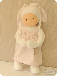 Diana, Waldorf Doll.This little doll is made with love and care.Size: 14 inches (35cm)She is stuffed very firmly with Polyester antiacarids - antiallergic padding.Her head is made with Cotton knit interlock made from certified organic cotton. The finish is soft and natural. Certifie...