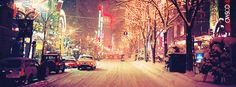 City Snowy Night Facebook Cover Photo | JUSTBESTCOVERS