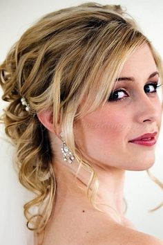 half up half down wedding hairstyles - half updo for brides|Hairstyles-for-weddings.com