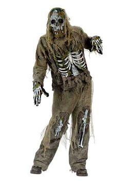 Skeleton Zombie 3D Deluxe Kostüm   Zombie Kostüme für den Zombiewalk   horror-shop.com #Zombie #ZombieCostume #Halloween #HalloweenCostume