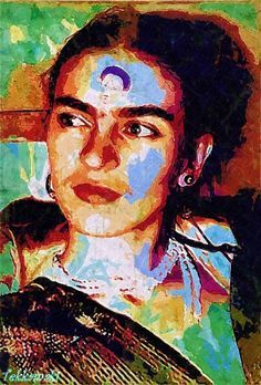lita cabellut frida kahlo paintings - Google Search