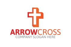 Arrow Cross Logo by Josuf Media on Creative Market