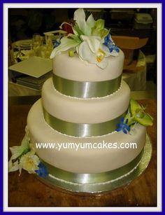 sage orchid wedding cake Orchid Wedding Cake, Wedding Cakes, Green Cake, Sage Wedding, Orchids, Wedding Ideas, Weddings, Awesome, Desserts