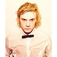 evan peters. even weird lookin like this he is so gorgeous! wtf?