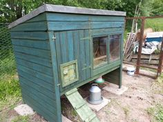 converted shed into a chicken coop.