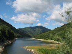 Masív hory Smrk a rameno přehrady Šance-Řečice