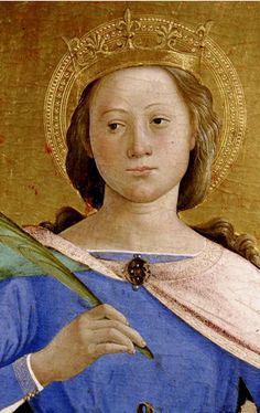 Antoniazzo Romano ~ S. Caterina ~ Montefalco ~ Antoniazzo Romano, born Antonio di Benedetto Aquilo degli Aquili (c.1430-c.1510) was an Italian Early Renaissance painter, the leading figure of the Roman school during the 15th century.