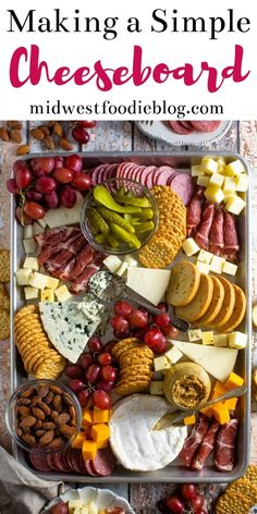 Making a Simple Cheese Board - How to Make a Simple Charcuterie Board You are in the right place about healthy recipes Here we off - Plateau Charcuterie, Charcuterie And Cheese Board, Charcuterie Platter, Cheese Boards, Meat Platter, Party Food Platters, Food Trays, Holiday Appetizers, Appetizer Recipes