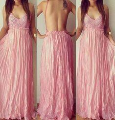 Beautiful Pink Lace and Chiffon Long dress Backless Maxi Dresses, Chiffon Dress Long, Maxi Dress With Sleeves, Short Beach Dresses, Tulip Dress, White Dresses For Women, Couture, Womens Fashion, Fashion Sale