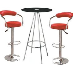 Having this Amber Black Glass Bar Table with 2 Zenith Red Bar Stools in your house, will make you entertain your friends and guests more easily. This bar furniture is not only popular in bars these...