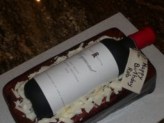 Cake for my 21st Birthday! A 'Brandy' wine bottle!