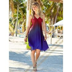 Athleta Women Daytrip Convertible Dress (195 AUD) ❤ liked on Polyvore featuring dresses, sea n sun ombre, multi way dress, athleta, ombre dresses, convertible dress and athleta dresses