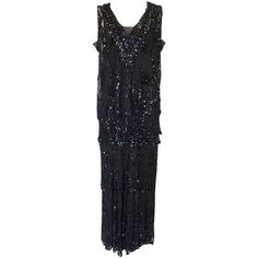1920s Incredible Lace Bead & Sequin Gown | From a collection of rare vintage evening dresses at http://www.1stdibs.com/fashion/clothing/evening-dresses/