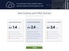 Simple pricing section for web hosting site.