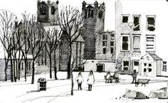 Shari Blaukopf's version of Vanier College campus in Montreal.