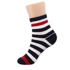 Made In Korea Children Red Ringle Point Anklet Socks 3Pairs, Kids Boys & Girls #DreamTree #Casual