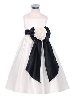 4ba9b3e8e0f Ivory Pick Your Sash Classic Satin Flower Girl Dress (Sizes 2-12 in 7
