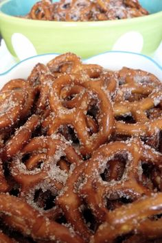 Edible Life in YYC: Sweet & Salty. Cinnamon Sugar Pretzels, Pregnancy Cravings, Good Food, Yummy Food, Chex Mix, Sweet And Salty, Favorite Recipes, Snacks, Baking