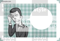Greeting card with businessman with headache – personalize your card with a custom text