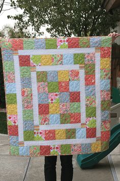 Quick Scrap Quilt Patterns Super Quick And Easy Baby Quilt New Moms Will Love Quilting Digest More Quick Quilts Patterns Easy Quick Quilts Patterns Patchwork Quilt, Lap Quilts, Scrappy Quilts, Small Quilts, Lap Quilt Size, Amish Quilts, Hexagon Quilt, Quilt Baby, Quilt Bedding