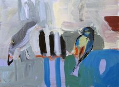 "Saatchi Art Artist Paul Robinson; Painting, ""birds and stripes"" #art"