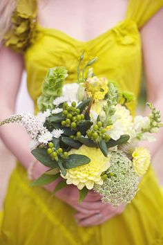 Chartreuse bridesmaid captured by Sarah Gawler Photography