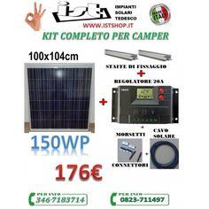 KIT PANNELLO SOLARE PER CAMPER 150W