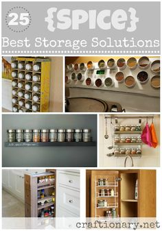 Spices are always so hard to store.  Gotta luv these ideas  :)