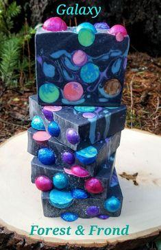 Galaxy - artisan handmade soap ForestandFrond.etsy #soapmakingbusiness