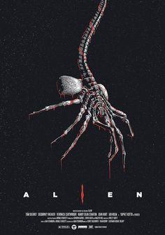 """johnny-dynamo: """"Alien by Miki Edge """" Alien Vs Predator, Predator Movie, Alien Film, Alien 1979, Giger Alien, Hr Giger, Ellen Ripley, Arte Alien, Alien Art"""