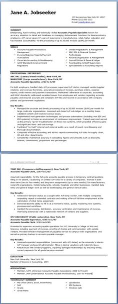 accounts payable specialist resume examples | accounting & finance ... - Accounts Payable Resume Examples