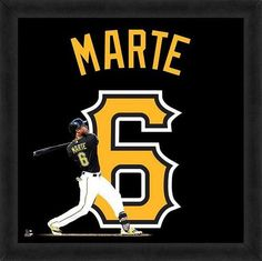 Featured is a Starling Marte framed Pittsburgh Pirates jersey photo. This photo has been professionally framed and is approximately 20x20. **Note: This photo is not signed.** **