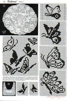 Gallery.ru / Фото #24 - Бабочки в филейной технике - Alleta
