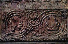 """ჩუქურთმა, """"ანჩის მაცხოვარი""""-ს კარედი ხატის ცენტრალური ხატის შემკულობა, XII საუკუნის მიწურული, ოსტატი - ბექა ოპიზარი"""