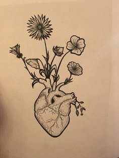 For my friend  #tatoo #heart #flower